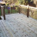 grooved and reeded decking and Tate Fencing handrail installed for a customer
