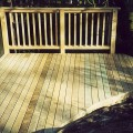 Bevelled decking boards 32 x 100mm installed for a customer
