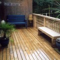 Softwood bevelled decking boards installed for a customer