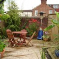 A decking, patio area made from our Tanalised bevelled decking.