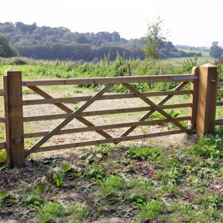 Tanalised softwood Universal Utility field gate