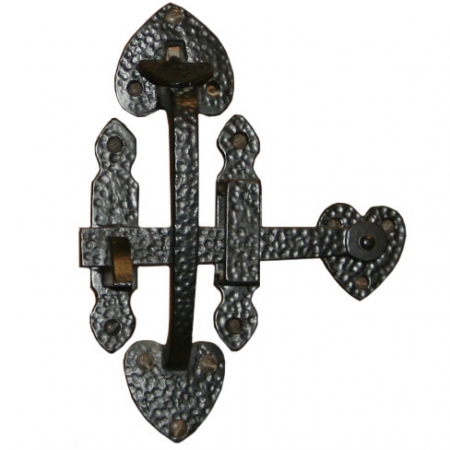 Black Ornamental Suffolk Gate Latch