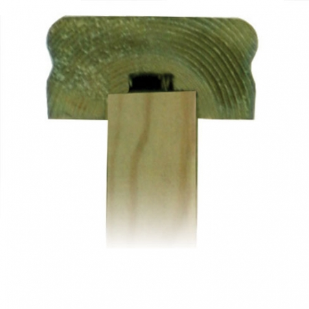 Tate Fencing Handrail - Top Rail cross section