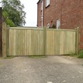 A lower pair of softwood wimborne gates