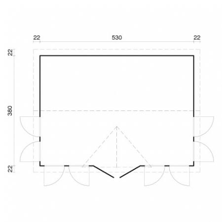 Claudia 19.4m² footprint and measurements