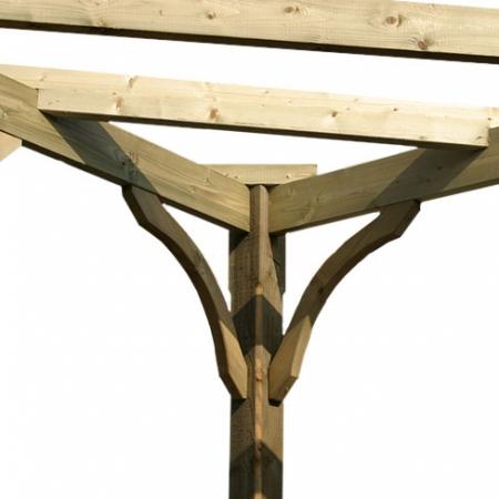 Corner Brace detail on Pergola Corner