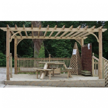 Example of a Standard Pergola from TATE Fencing