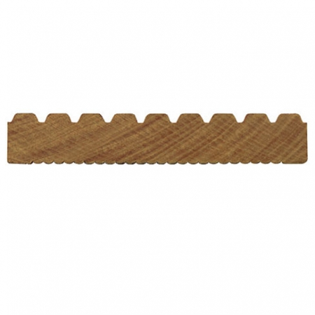 Balau hardwood grooved and reeded decking board cross section profile