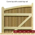 Curve Top with Solid Top Rail Prices