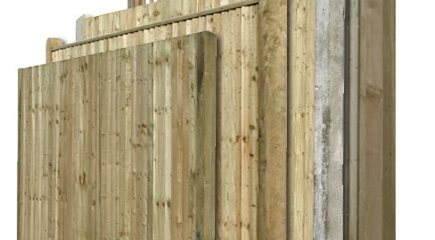 Closeboard Fencing in kit form from TATE Fencing