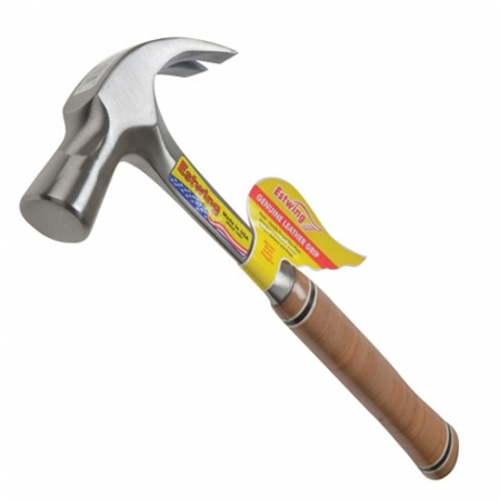Estwing leather grip claw hammer - 24oz weight