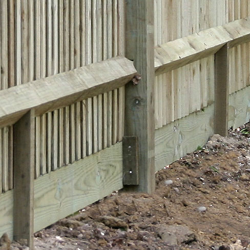 Timber Cleat for Gravelboards > Fencing Components | TATE Fencing