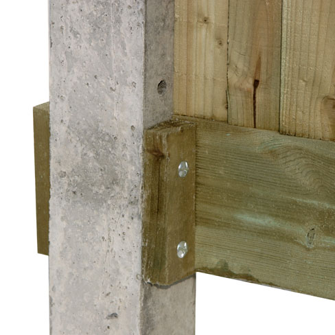 Timber Cleat For Gravelboards Gt Fencing Components Tate