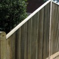 closeboard fencing with capping rail on top