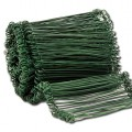 Green Plastic coated pull ties