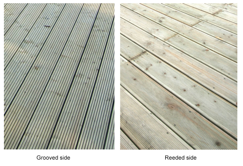 Grooved and reeded decking boards decking boards tate for 4m composite decking boards