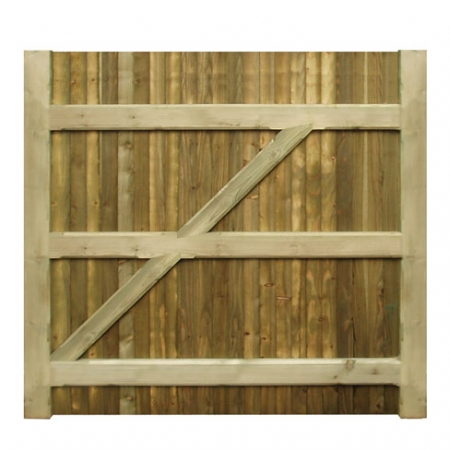 Heavy framed closeboard gate rear This is how the gate comes as standard