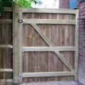 Heavy frame single closeboard gate rear view