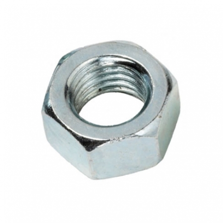 Hex nut for use with studded bar and bolts