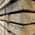 close up details of oak hardwood sleepers