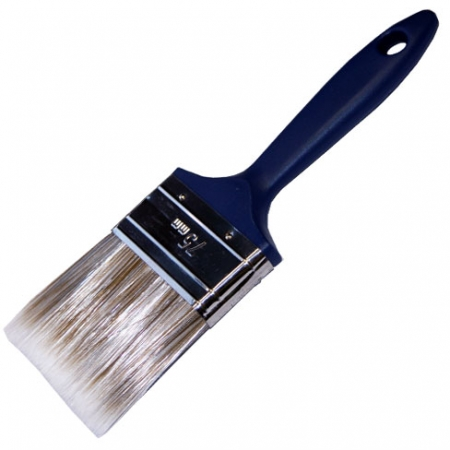 Synthetic bristle paint brush suitable for all paint and varnishes 75mm wide