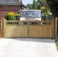 Heavy frame Windsor gates installed on site by Tate Fencing