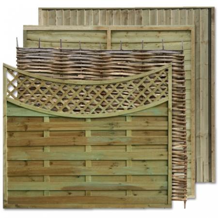 Garden Fencing Closeboard Palisade Fence Panels