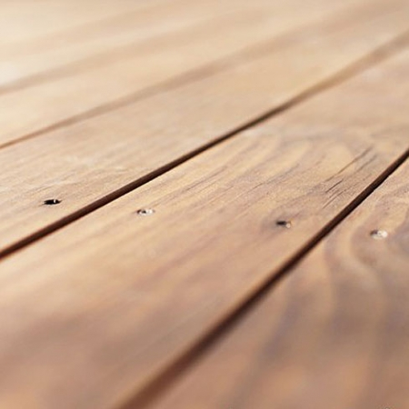 Close up of Radiata pine softwood smooth and grooved decking