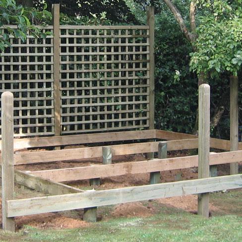 Decking support posts decking framework tate fencing for Garden decking framework