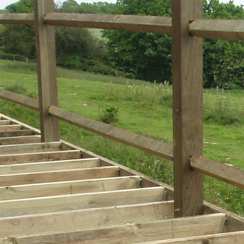 decking support posts decking framework tate fencing. Black Bedroom Furniture Sets. Home Design Ideas