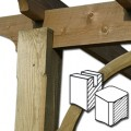 Pergola Posts available with or without chamfered corners