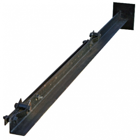 Angle iron chain link end post comes with tensioners attached