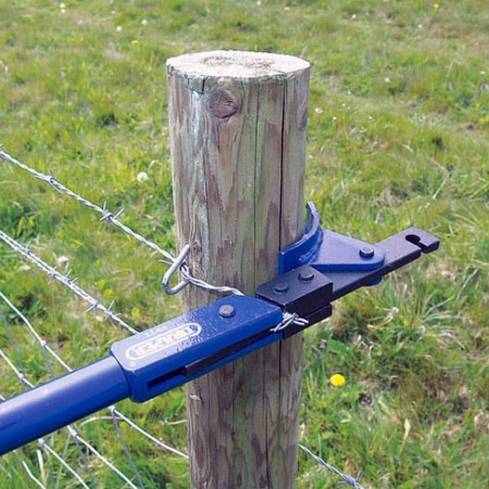 using the draper wire trainer tool to tension barbed wire