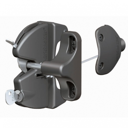 key-lockable from both sides, general purpose gate latch