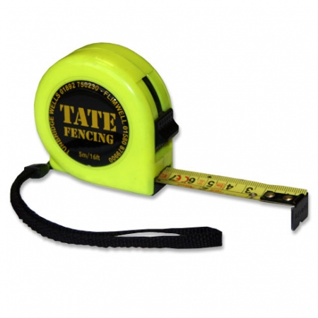 TATE Fencing 5m tape measure with locking button