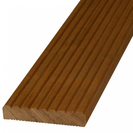 28mm grooved reeded balau hardwood decking