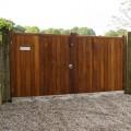 A pair of hardwood Wimborne gates installed on site