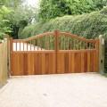 Windsor swish top hardwood gates a pair installed