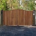 Hardwood Cranborne gates installed on softwood posts