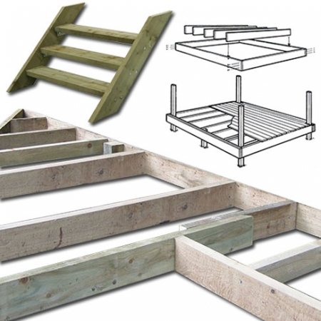 Decking garden decking decking boards hardwood for Decking framework timber