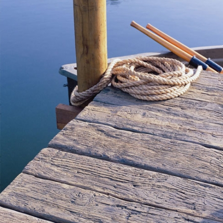 Weathered Driftwood deck created for use as a jetty