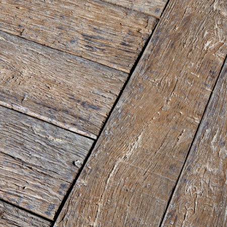 Weathered decking close up - Vintage colour