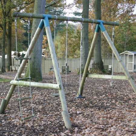DIY Double Swing Set