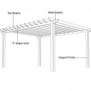 Pergola construction diagram