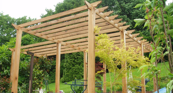 Pergola construction example
