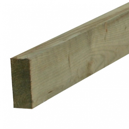 38 x 87mm sawn rail for post and rail fencing