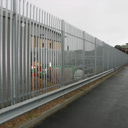 tri point steel security palisade fencing