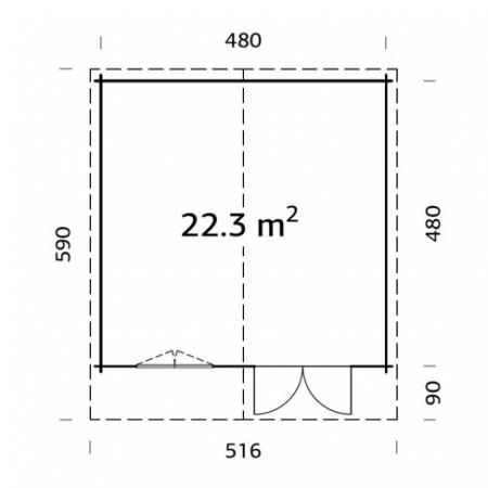 Britta 22.3m² footprint