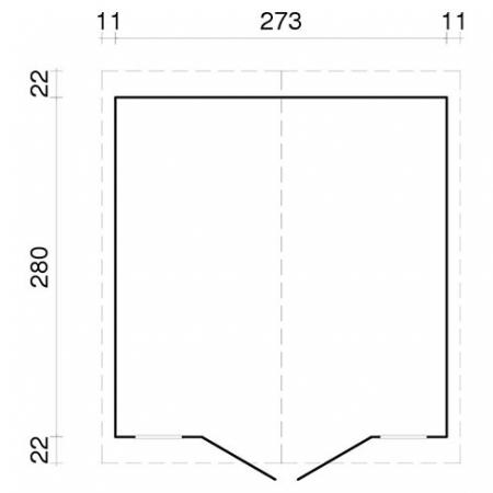 Dan 7.7m² - Footprint