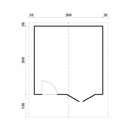 Britta 14.6m² - footprint
